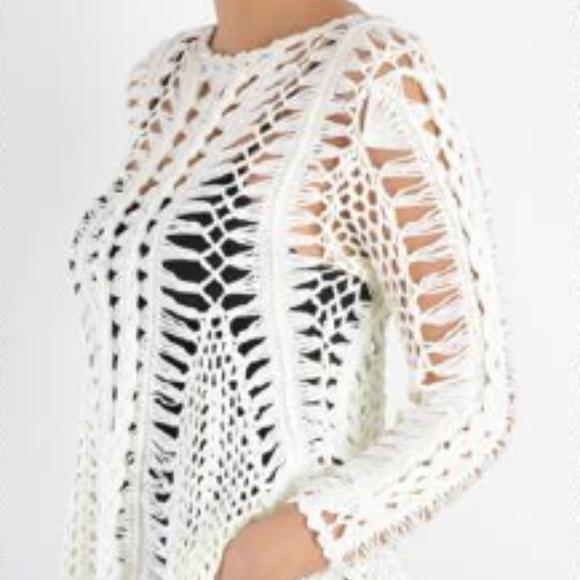 Zoria Sweaters Tops Nwt Crochet Long Sleeve Top Poshmark